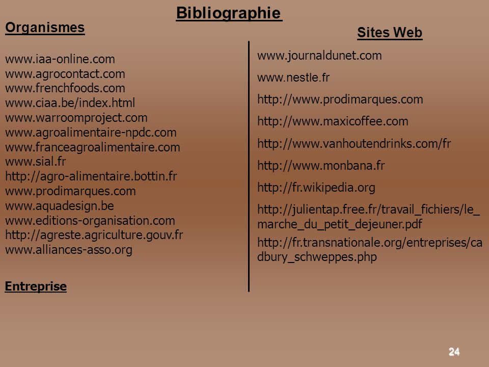 Organismes Sites Web Bibliographie www.journaldunet.com