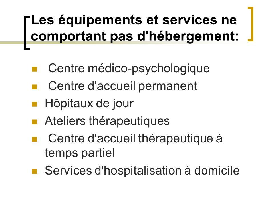 Les équipements et services ne comportant pas d hébergement: