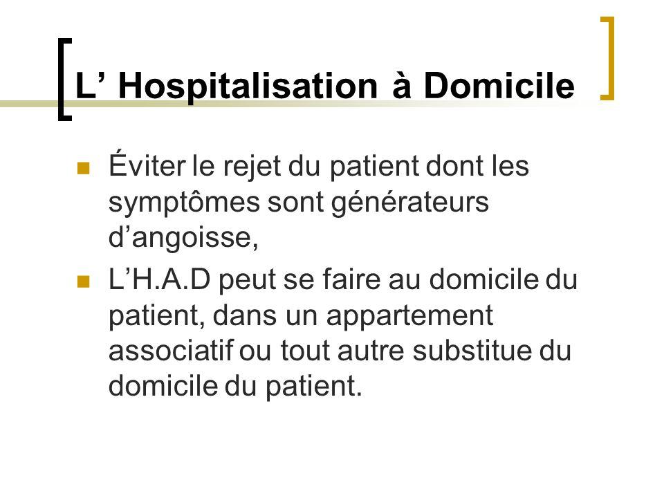 L' Hospitalisation à Domicile