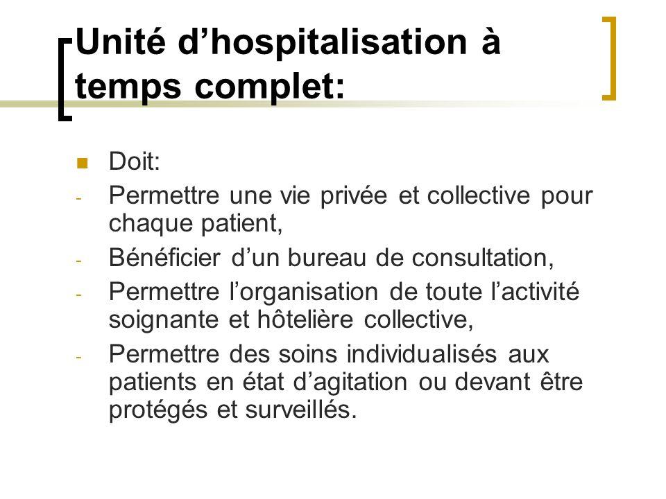 Unité d'hospitalisation à temps complet: