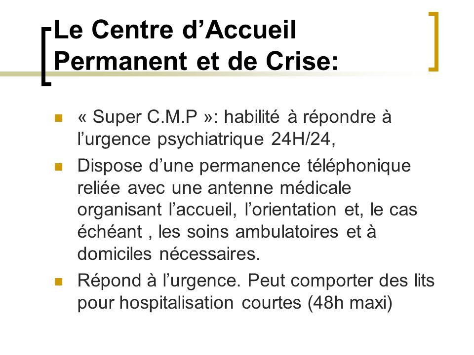 Le Centre d'Accueil Permanent et de Crise: