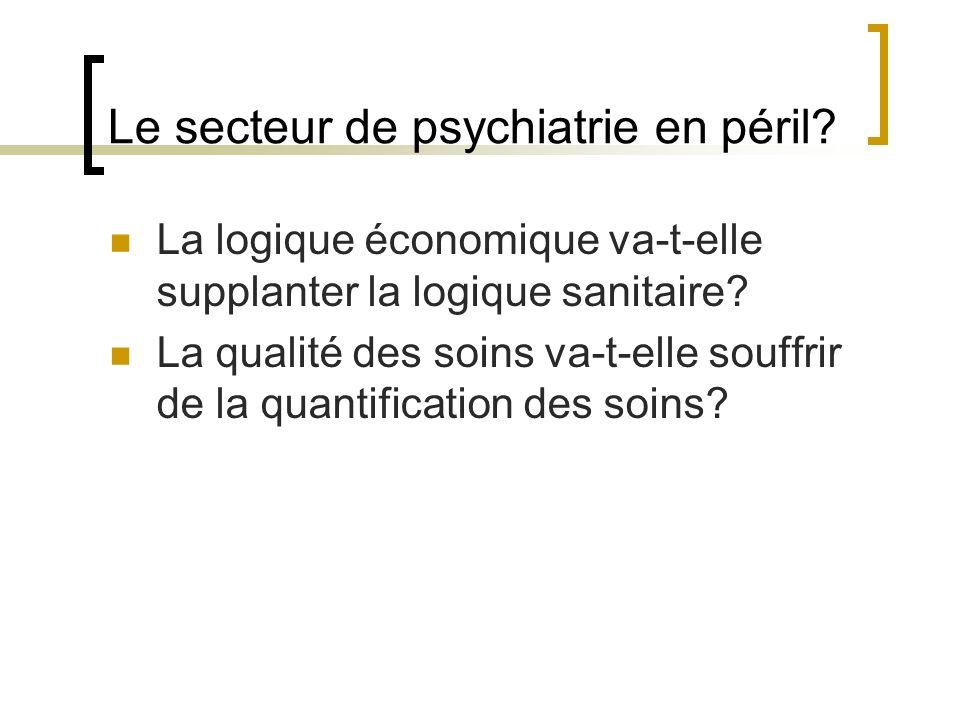 Le secteur de psychiatrie en péril