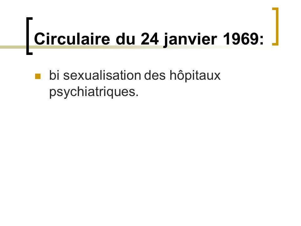 Circulaire du 24 janvier 1969: