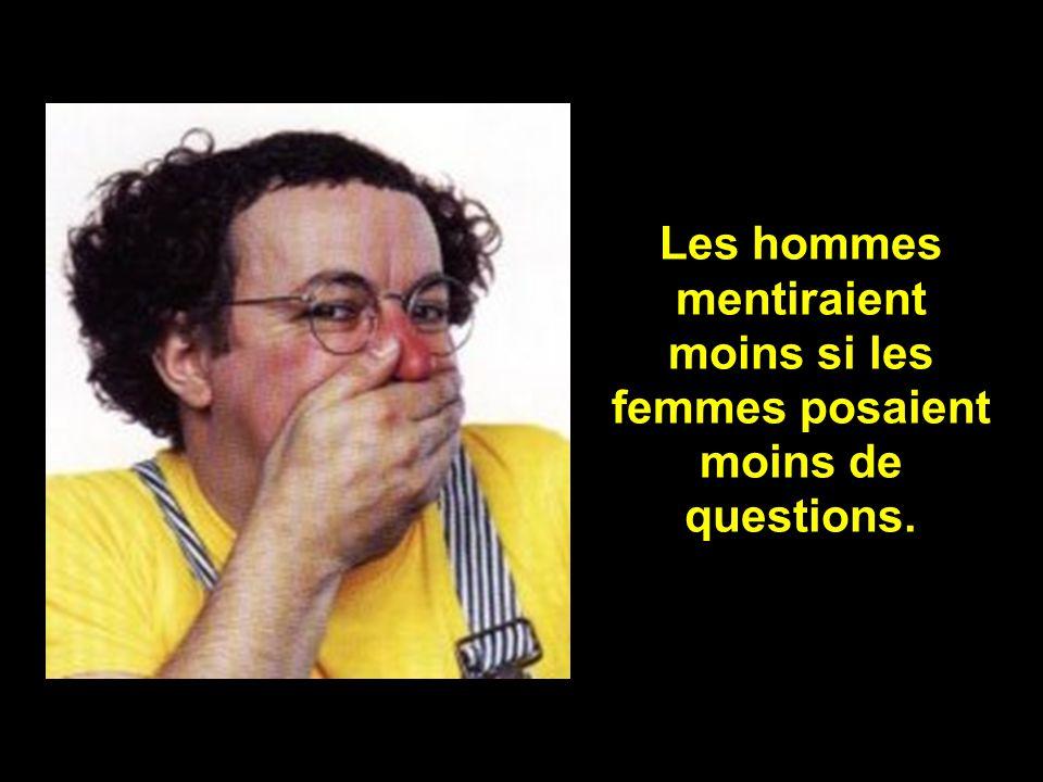 Les hommes mentiraient moins si les femmes posaient moins de questions.