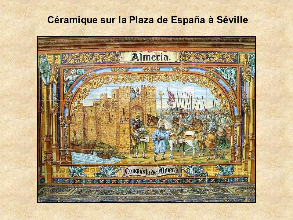 Céramique sur la Plaza de España à Séville