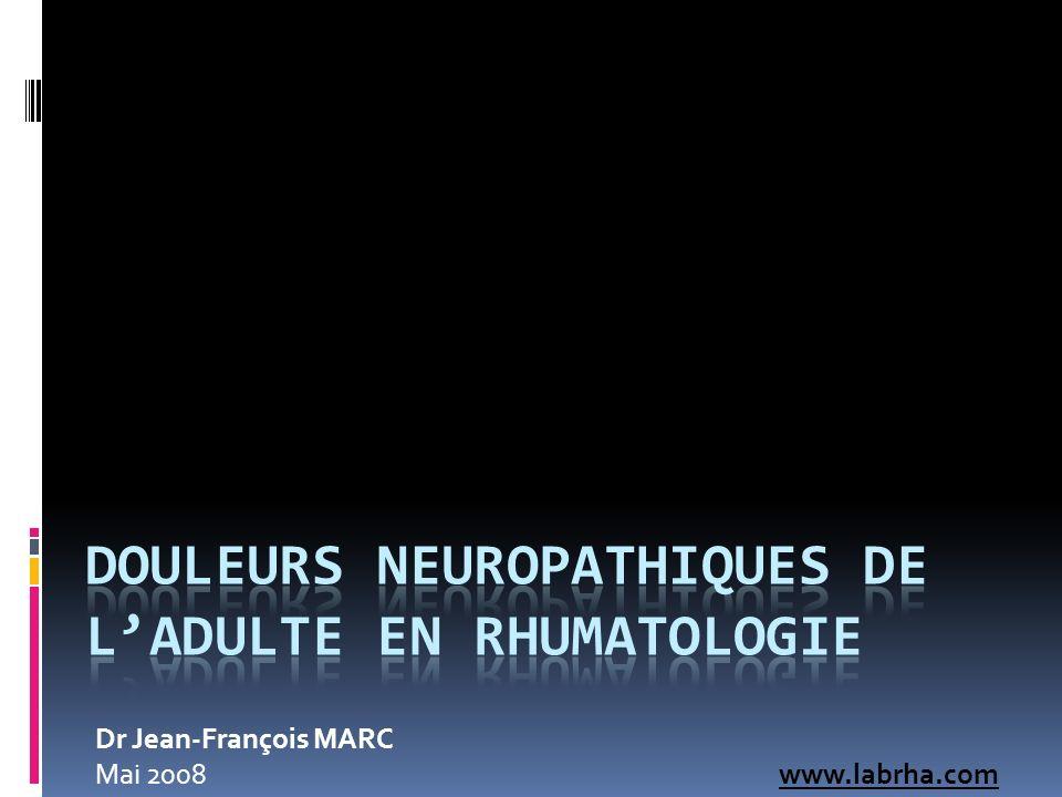 Douleurs Neuropathiques de l'adulte en Rhumatologie