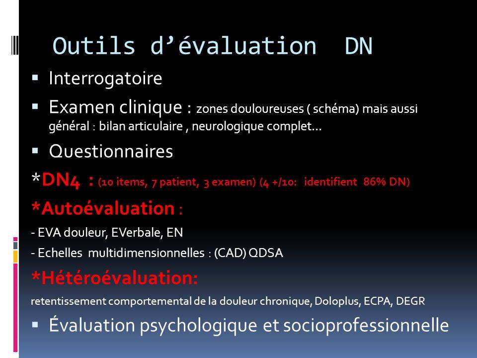 Outils d'évaluation DN