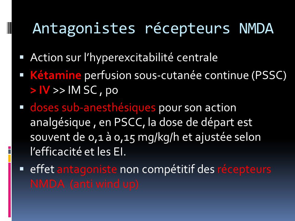 Antagonistes récepteurs NMDA