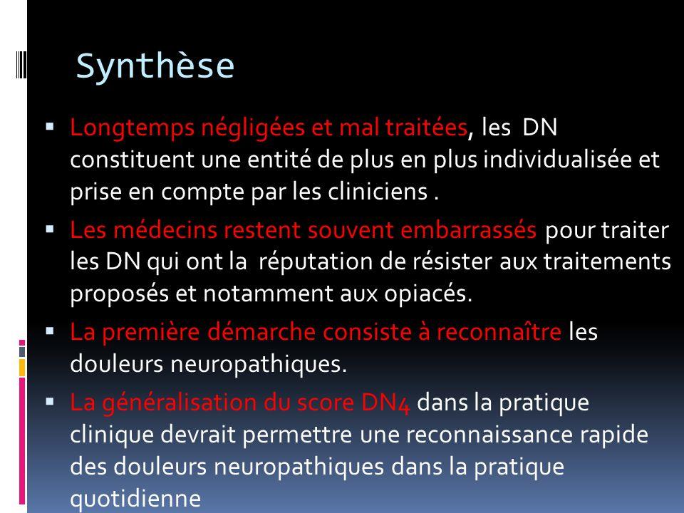 SynthèseLongtemps négligées et mal traitées, les DN constituent une entité de plus en plus individualisée et prise en compte par les cliniciens .