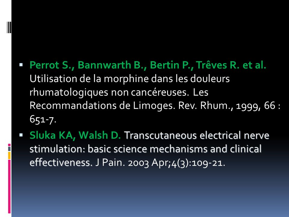 Perrot S. , Bannwarth B. , Bertin P. , Trêves R. et al