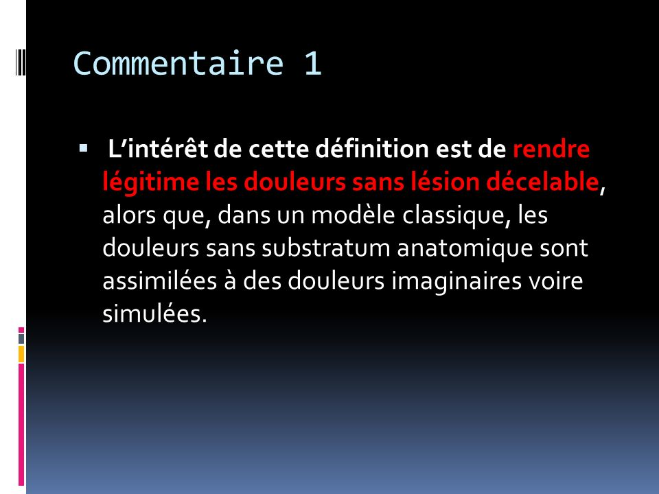 Commentaire 1