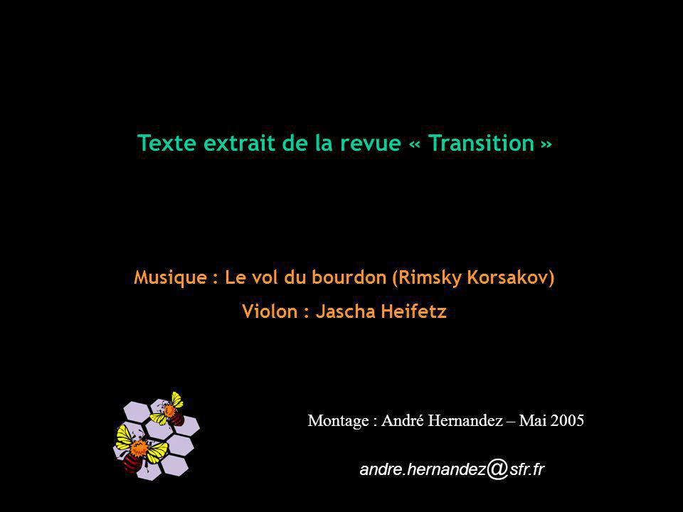 Texte extrait de la revue « Transition »