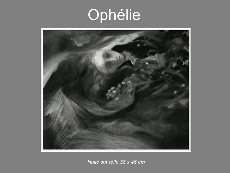 Ophélie Huile sur toile 38 x 46 cm