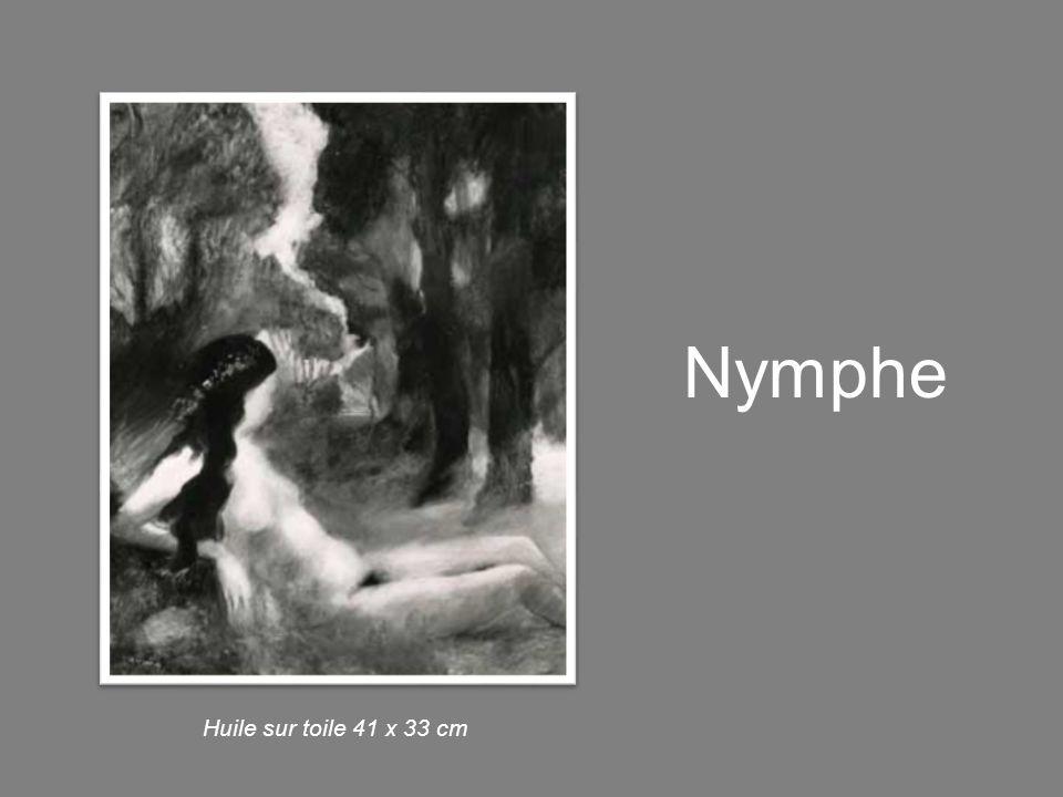 Nymphe Huile sur toile 41 x 33 cm