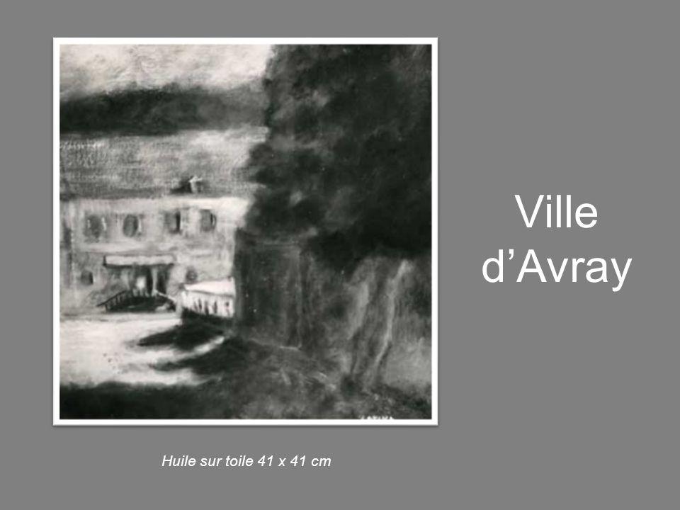 Ville d'Avray Huile sur toile 41 x 41 cm