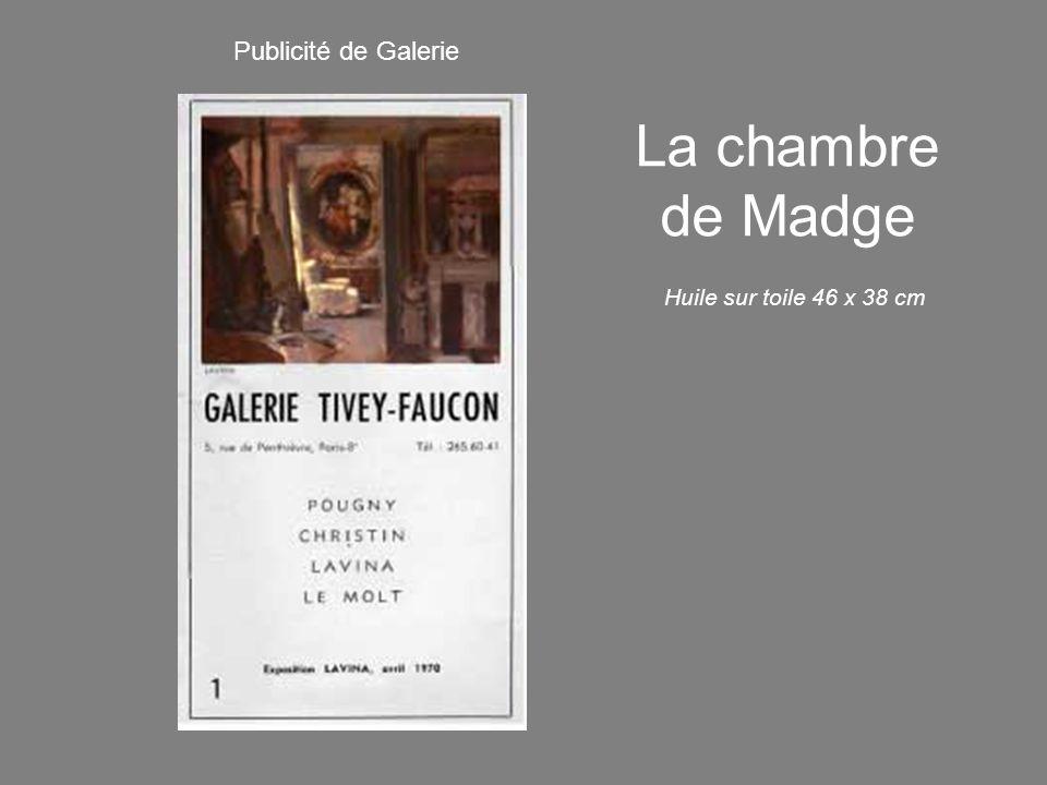 Publicité de Galerie La chambre de Madge Huile sur toile 46 x 38 cm