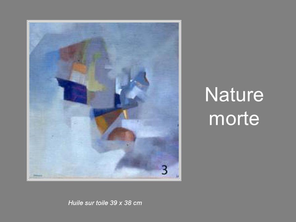 Nature morte Huile sur toile 39 x 38 cm