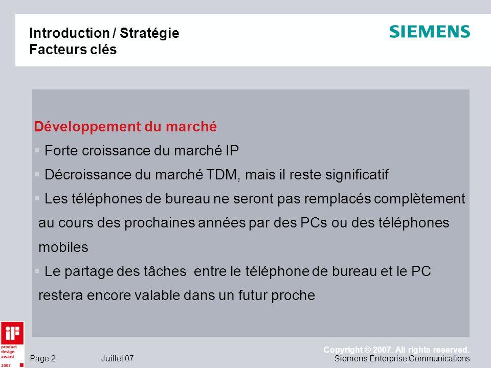 Introduction / Stratégie Facteurs clés