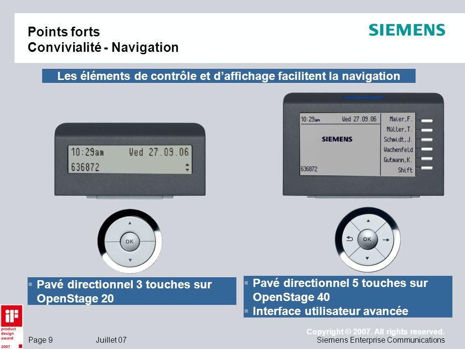 Points forts Convivialité - Navigation