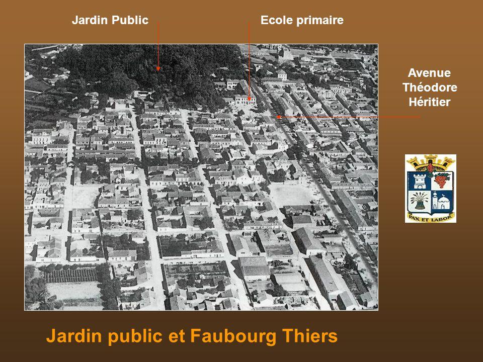 Avenue Théodore Héritier Jardin public et Faubourg Thiers