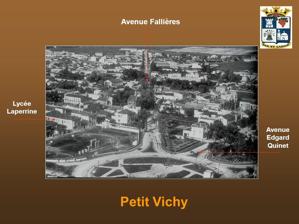 Avenue Fallières Lycée Laperrine Avenue Edgard Quinet Petit Vichy