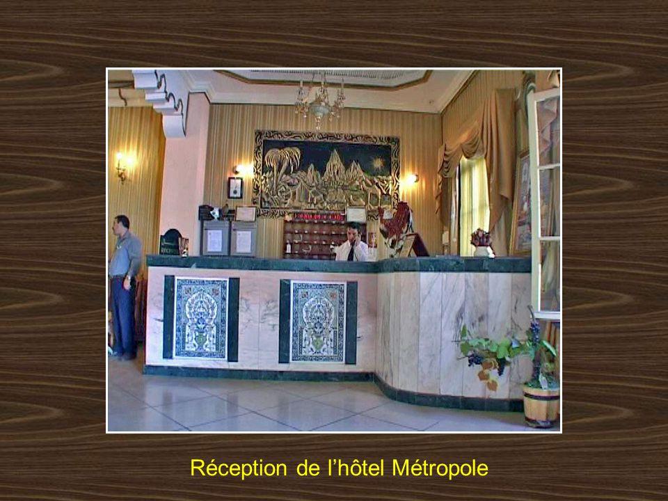 Réception de l'hôtel Métropole