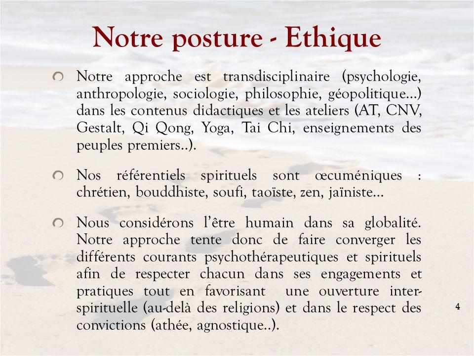 Notre posture - Ethique