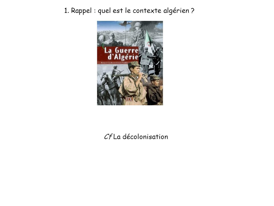 1. Rappel : quel est le contexte algérien