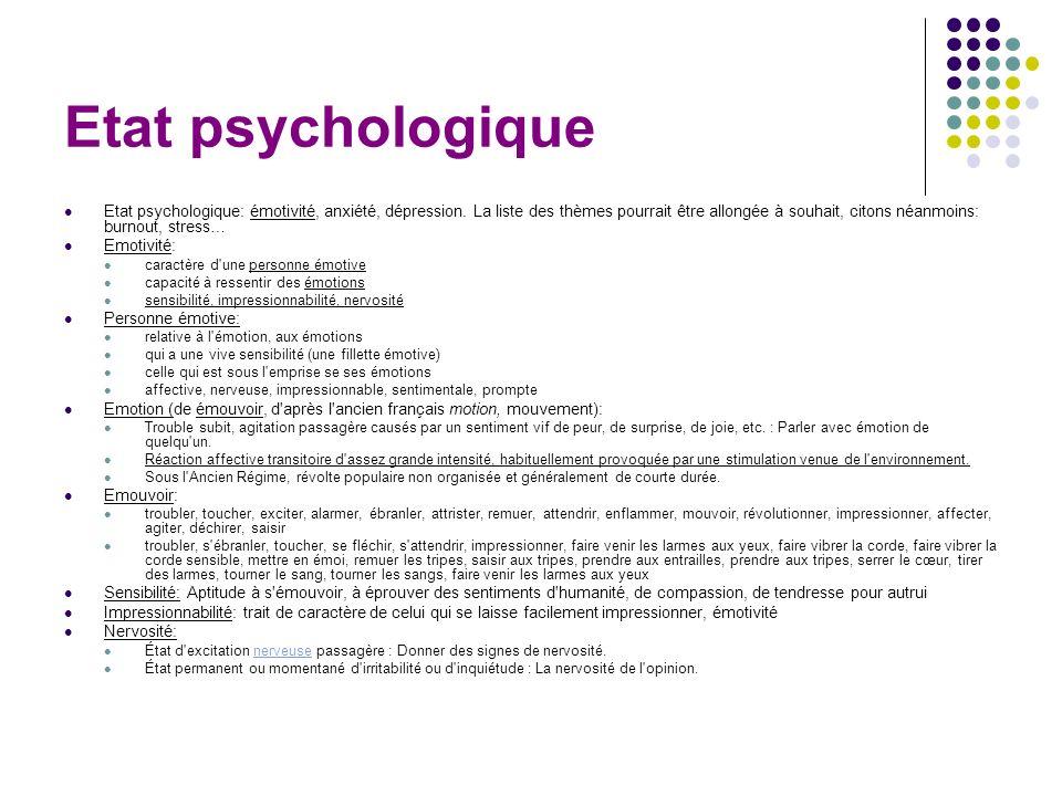 Etat psychologique