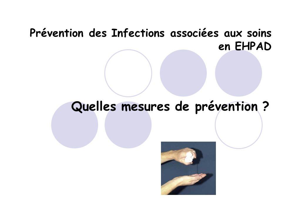 Prévention des Infections associées aux soins en EHPAD
