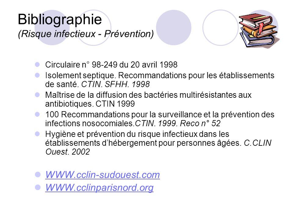 Bibliographie (Risque infectieux - Prévention)