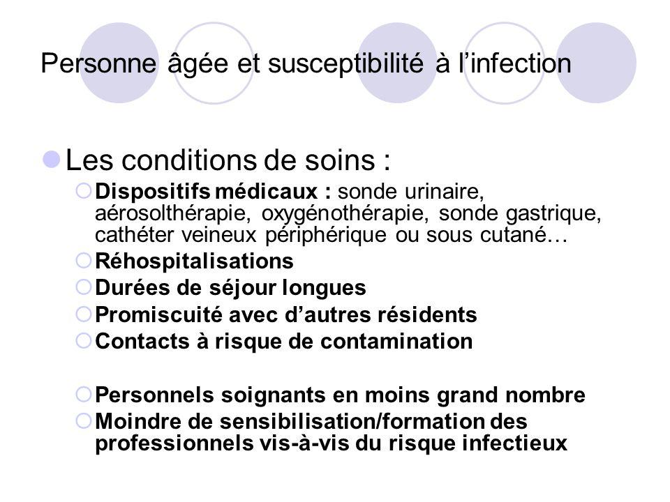 Personne âgée et susceptibilité à l'infection