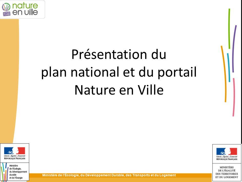 Présentation du plan national et du portail Nature en Ville