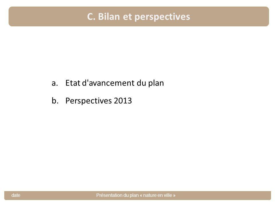 C. Bilan et perspectives