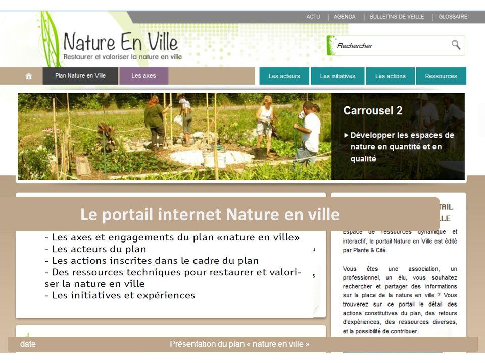 Le portail internet Nature en ville