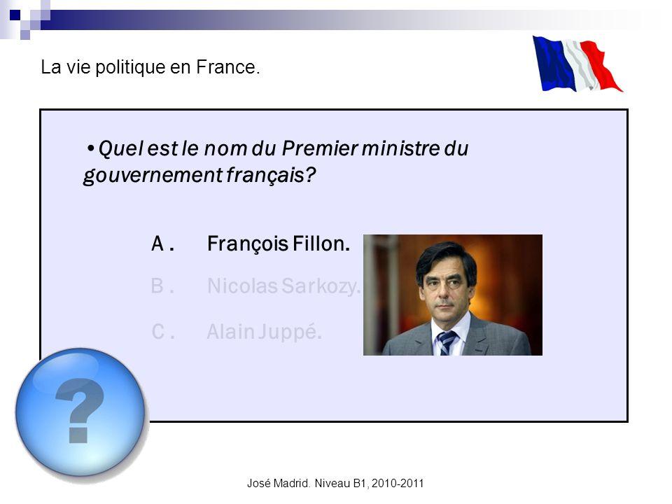 Quel est le nom du Premier ministre du gouvernement français