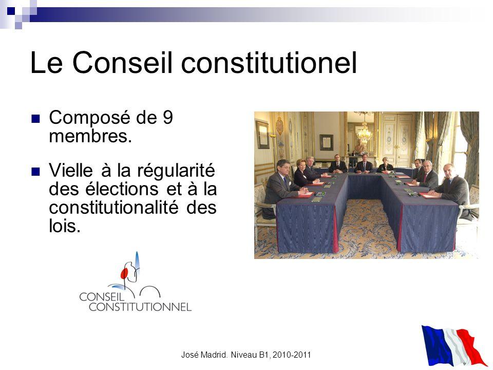 Le Conseil constitutionel
