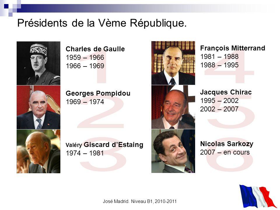 Présidents de la Vème République.