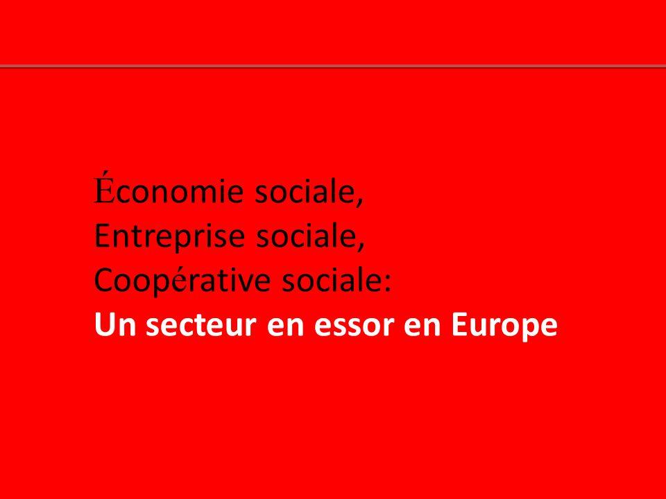 Économie sociale, Entreprise sociale, Coopérative sociale: Un secteur en essor en Europe