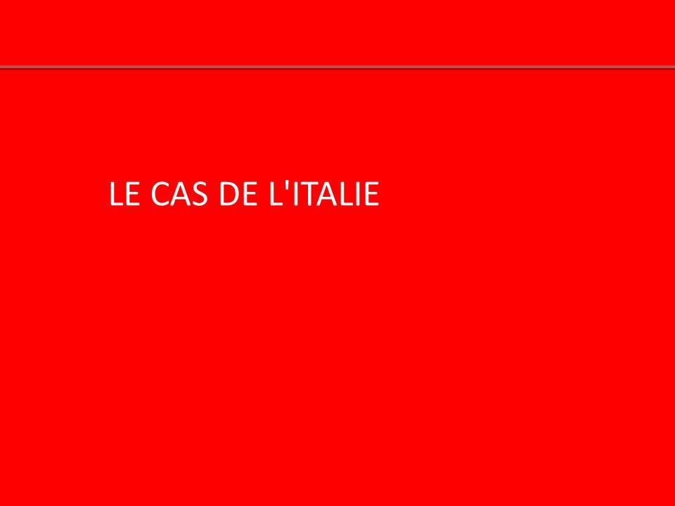 LE CAS DE L ITALIE