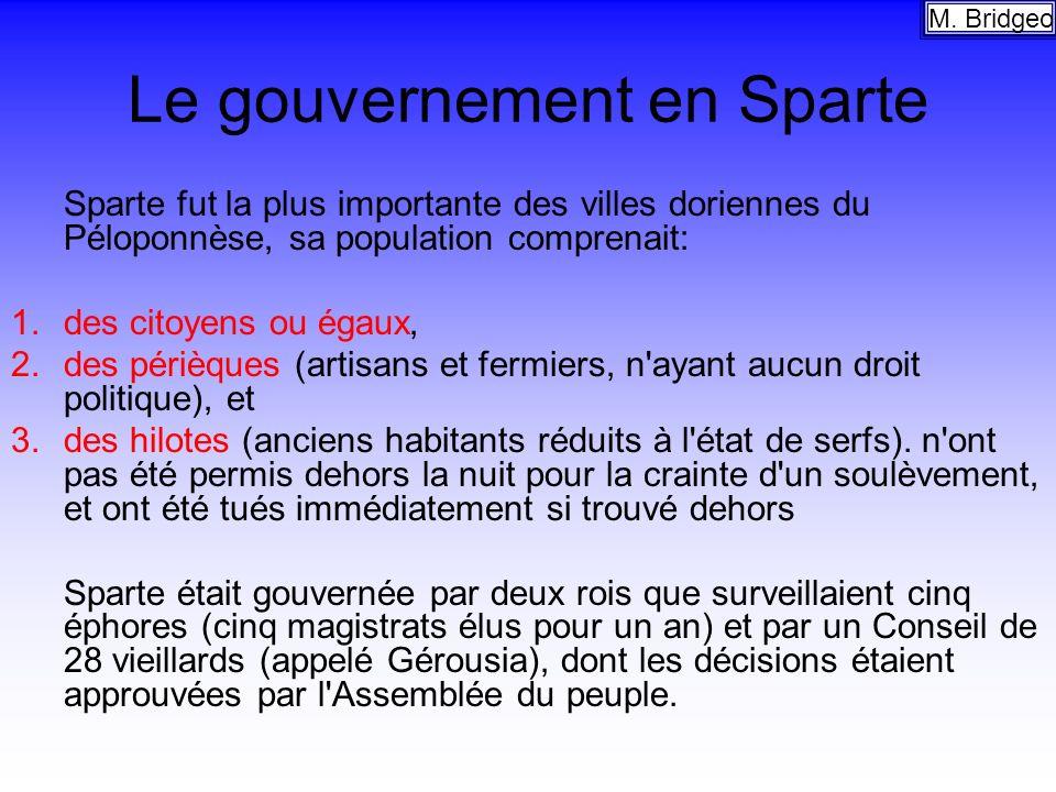 Le gouvernement en Sparte