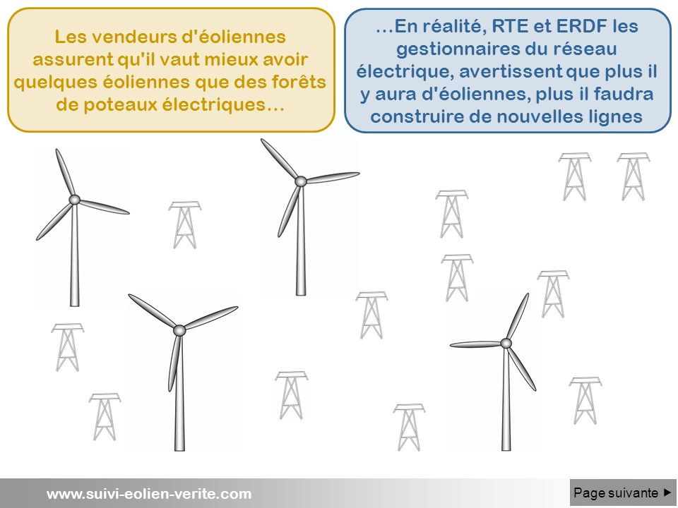 Les vendeurs d éoliennes assurent qu il vaut mieux avoir quelques éoliennes que des forêts de poteaux électriques…