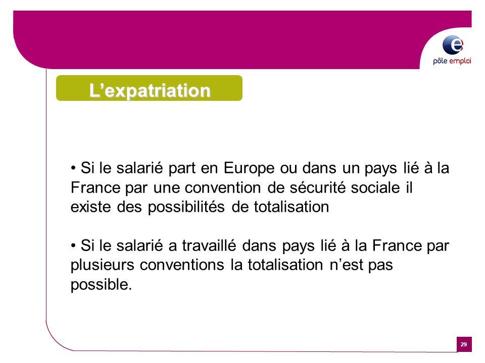 L'expatriationRecherche et sélection. . Importants moyens pour diffuser vos offres d'emploi internationales (Internet, radio, presse, TV,…).