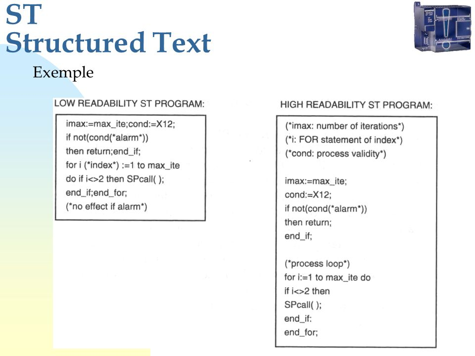ST Structured Text Exemple