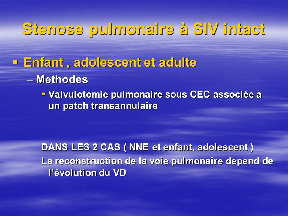 Stenose pulmonaire à SIV intact