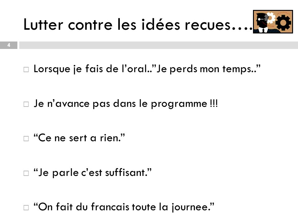 Lutter contre les idées recues….