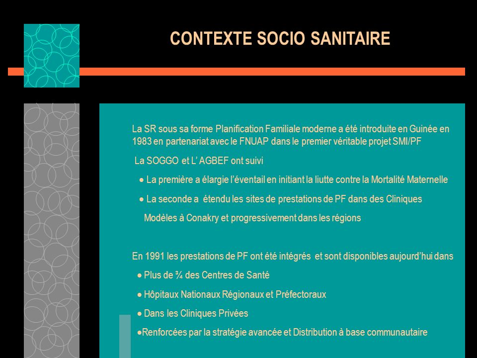 CONTEXTE SOCIO SANITAIRE