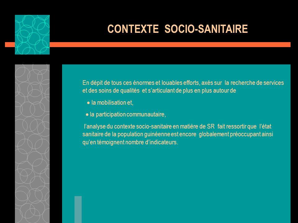 CONTEXTE SOCIO-SANITAIRE