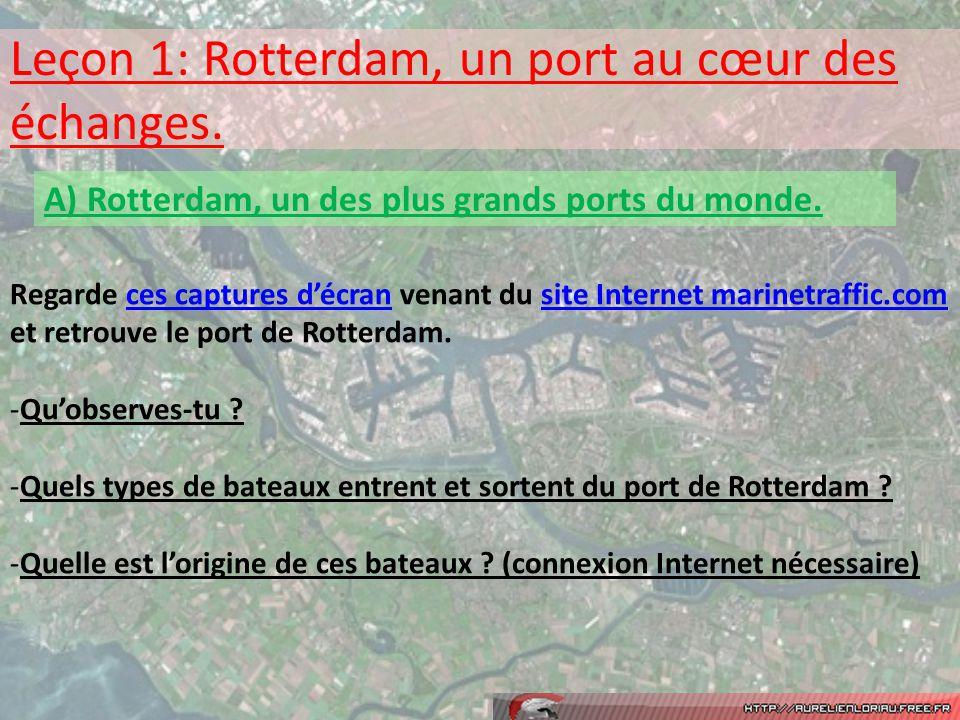 Leçon 1: Rotterdam, un port au cœur des échanges.