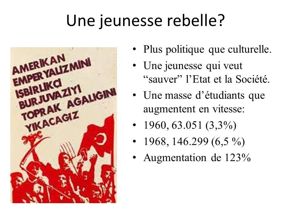 Une jeunesse rebelle Plus politique que culturelle.